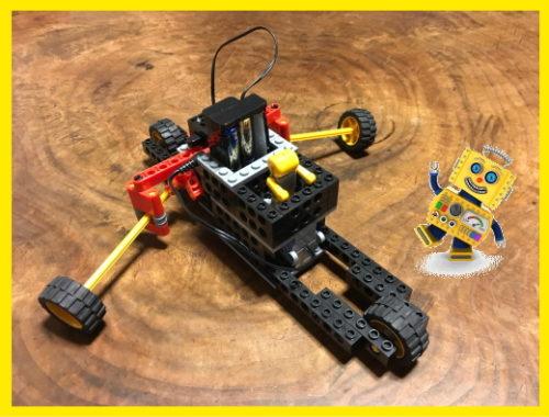 ロボット教室で小学1年生が作ったロボット
