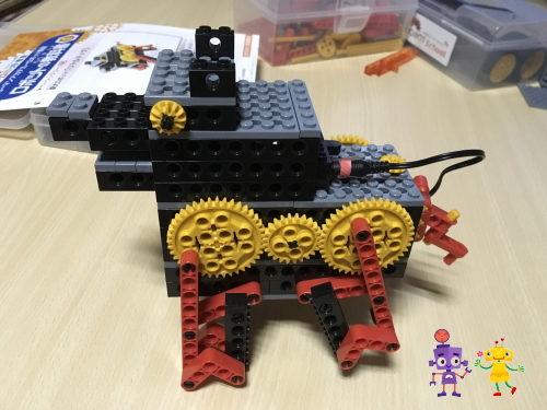 ヒューマンアカデミーロボット教室「ロボ犬」を作りました